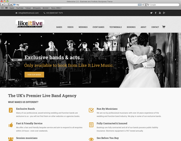 LikeitLive - premier entertainment provider for the UK