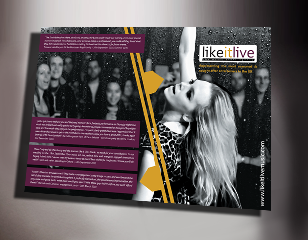 LikeitLive Promotional Print work